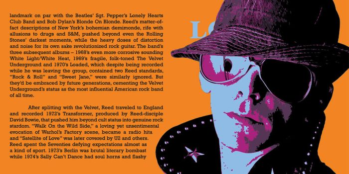 Lou Reed CD Pop-Art #3 by KRPgraphics