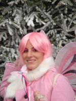 Pink Fairy In the Snow by lilam70