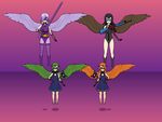 Girls of Justice Sister Team: Angel Forms by NekoLover3000