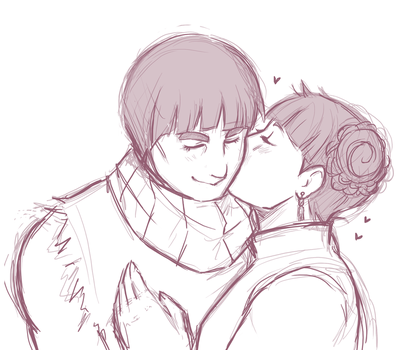 Kisses for the best husband by MetaruRicecake