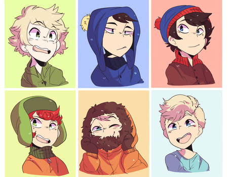 south park boi [free to use icons] by Kajackie
