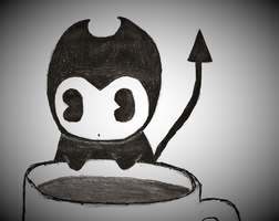 BATIM: Smol Bendy and a coffee mug by nightblue1991