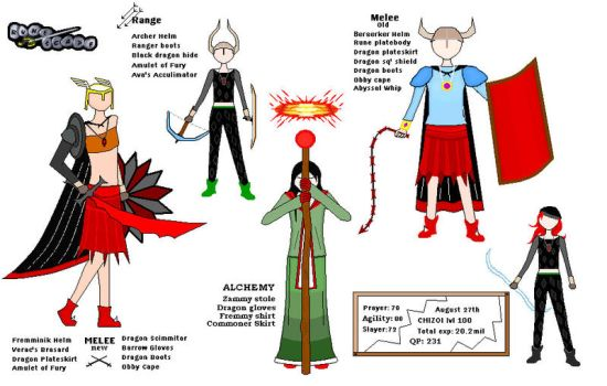 Runescape outfits by Hermy-one