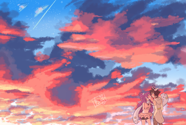 Pink Sunset by N-Yui