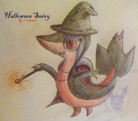 Halloween Snivy Custom by careas