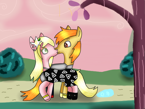 Gift- Married Pony Couple by MyMelodyOfTheHeart