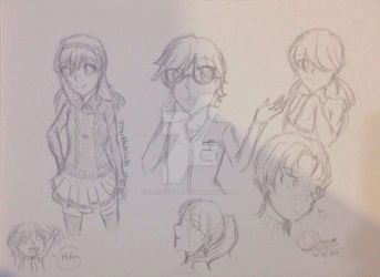 Random Characters(Sketch) by DStackNotebookS