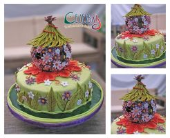 Tinkerbell fairy Home Cake by The-Nonexistent