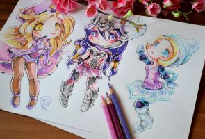 Awesome Chibi Trio by Lighane