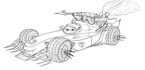 Mad Cars: Francesco Bernoulli  (WIP) by LucyRotelli