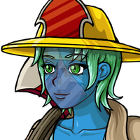 Firefighter Undine Portrait by phoenixignis