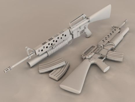 M16A1 with underbarrel M203 by Zeppi-il-Hafi