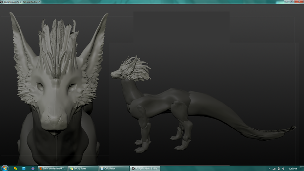 Crested Feli 3D Mesh by Sushi
