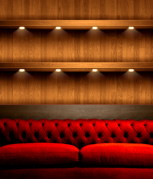 iPhone 4 Red Sofa Wallpaper by iMed15
