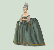 1770 Robe de Cour by Tadarida