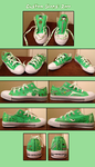 Custom Shoes Zoro by Snuckledrops