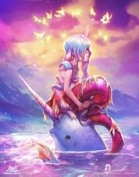 Mermaid and Narwhal : collab with Camilla d'Errico by AmandaDuarte