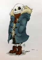 Sans in a Scarf by HR-OnlyReadTheHRpart