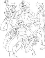 Fionna and Cake print WIP by Prussia-Watson