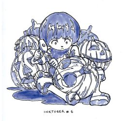 Inktober - 06 Getting ready for Halloween by Sourya