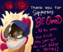 Be Good badge by BubbleDriver