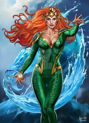Jessica Chastain As Mera Queen Of The Sea by hamletroman