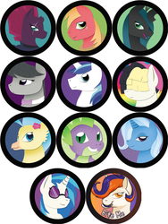 Paper Pony Buttons: Round 2 by Rainbow-Smashed