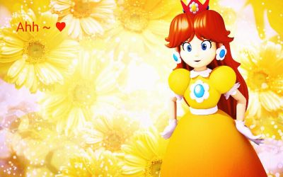 Princess Daisy - Blissful in the flowers by Princess-OfAnime
