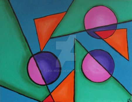 Simple Abstract Acrylic Painting by liha-irden