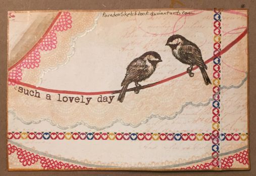 Postcard - Such a lovely day by ParadoxSketchbook