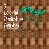 Colorful Photoshop Brushes by Miktik
