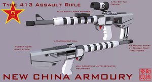 Type 413 Assault Rifle [NewChina] by Gwentari