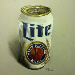 Miller Lite White Can by PencilRick