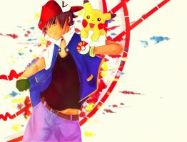 Ash and Pikachu by reflectnight