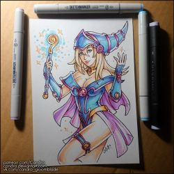 Sketchbook - Dark Magician Girl by Candra