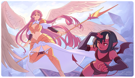 COMMISSION - Angel playmat by 1elda1