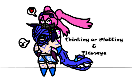 Thinking or Plotting Freebie by Tiduseya