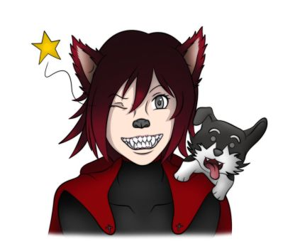 Comm 67 - A Zwei's best friend (Wolf tf - colored) by VioletRosefall