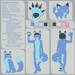 The Blue Fox Thom Reference Sheet by BlueFoxThom