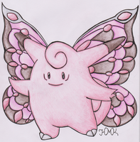Old Pokemon, New Type 18: Clefable by Shabou