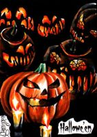 Hallowe'en Sketch Card - Achilleas Kokkinakis 1 by Pernastudios
