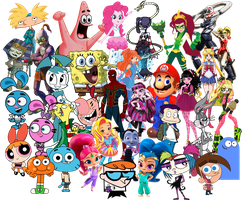 Fictional Characters Collage by FigyaLova