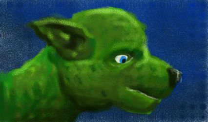 green_dog by archizero