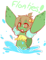 Turtle Floatie by punipaws