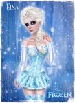 Elsa from Disney's FROZEN by kharis-art