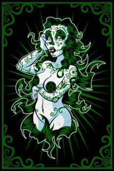 Sugar Skull Girl - Ivy by hooksnfangs