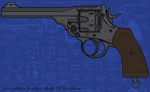 Webley Service Revolver by linseed