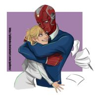 The Vision and Pepper Potts by GilJimbo