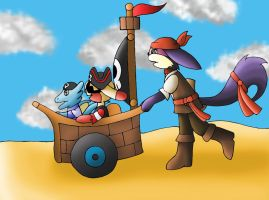 Pirate Event: Running by YingYang-girl