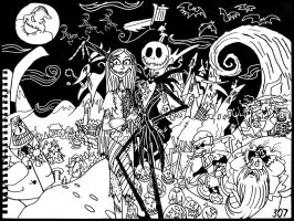 the Nightmare Before Christmas by AverageJoeArtwork